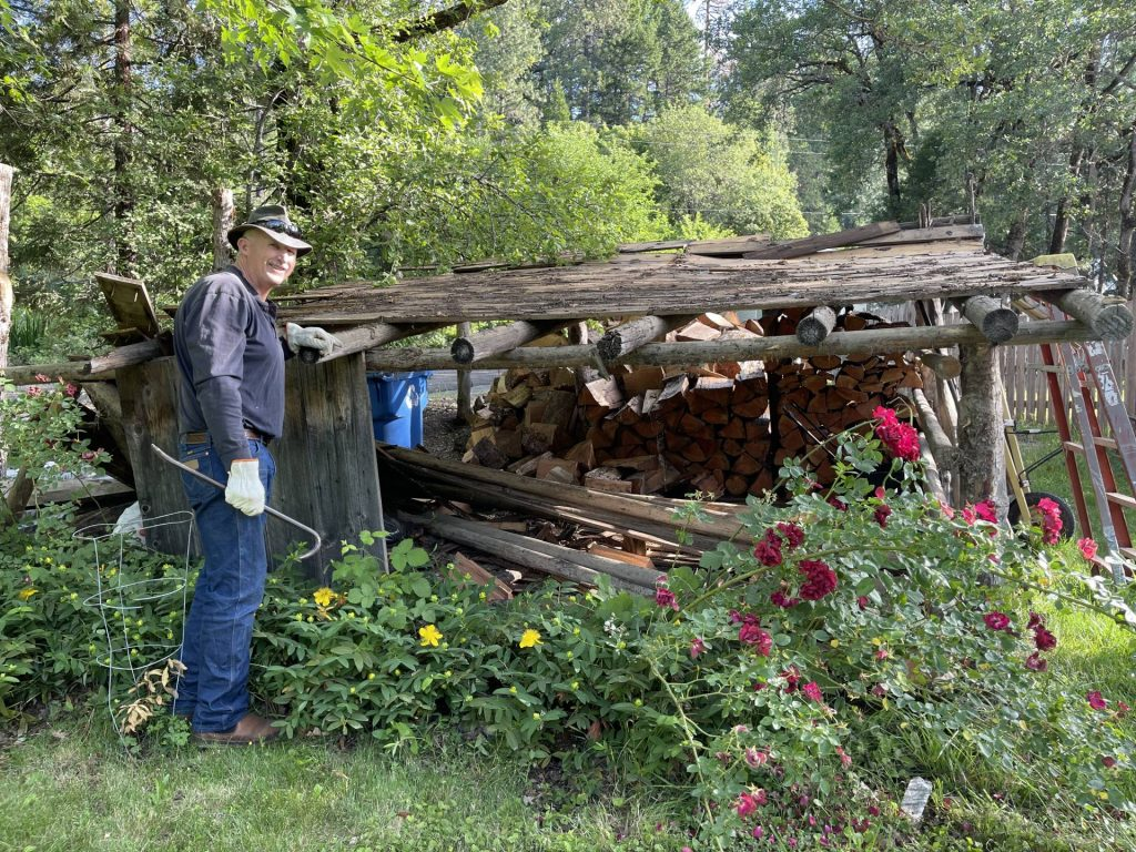 wood shed is dismantled