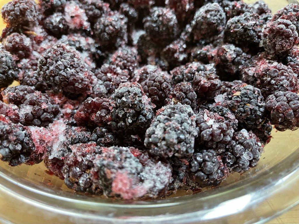 frozen blackberries for pie