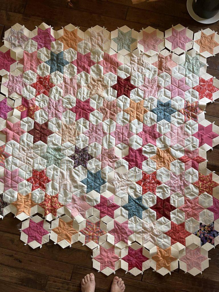 progress on Sand Stars quilt