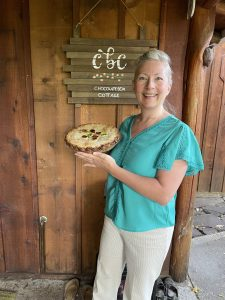 Michele and blackberry pie