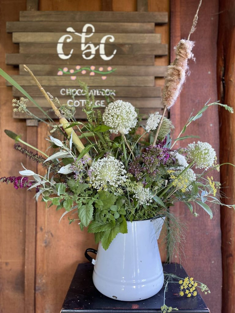 Wildflower and herb bouquet