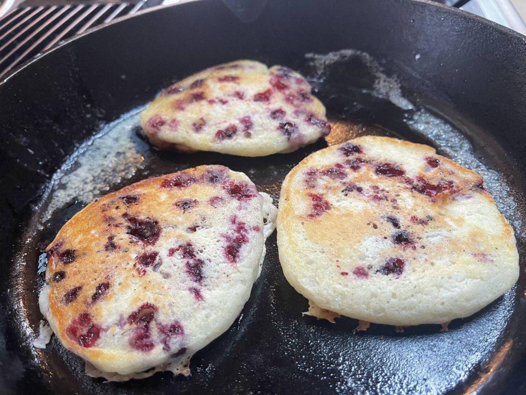 Sourdough Huckleberry Hotcakes