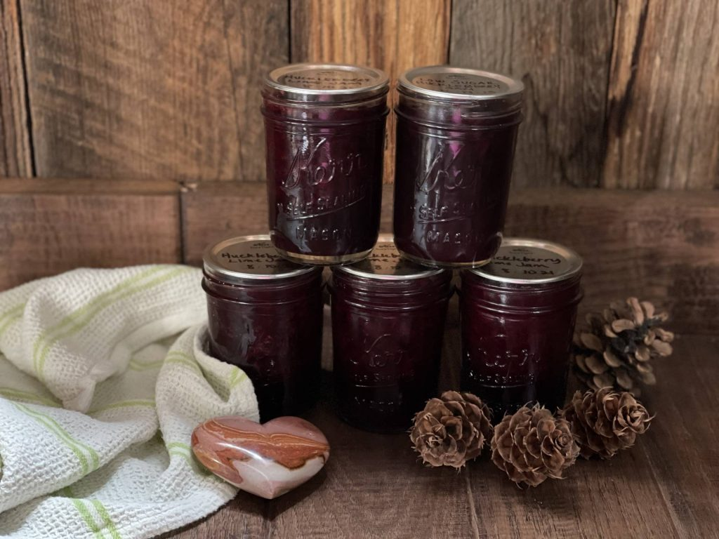 Huckleberry Lime Jam, low sugar